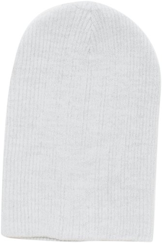 (D&Y Women's Basic Rib with Metallic Beanie, Off White, One)