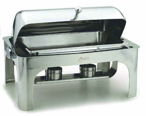 Alegacy AL500A Stainless Steel Savoir Full Size Dome Cover Chafing Dish, 25-1/2 by 17-7/8 by 18-Inch