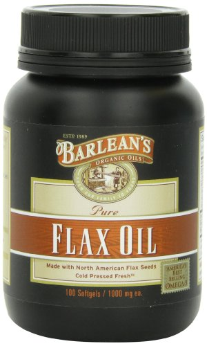 Barlean's Organic Oils Fresh Flax Oil Softgels, 100 Count Bottle Flax Oil 100 Softgels