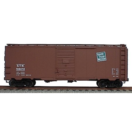 AAR 40' Single-Door Steel Boxcar - Kit (Plastic) -- Grand Trunk Western (Mineral - Grand Trunk Scale Ho