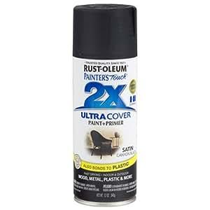Rust-Oleum 249844 Painter's Touch Multi Purpose Spray Paint, 12-Ounce, Satin Canyon Black