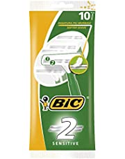 BIC Twin Easy Sensitive Disposable Men's Razors - Pouch of 10 Razors