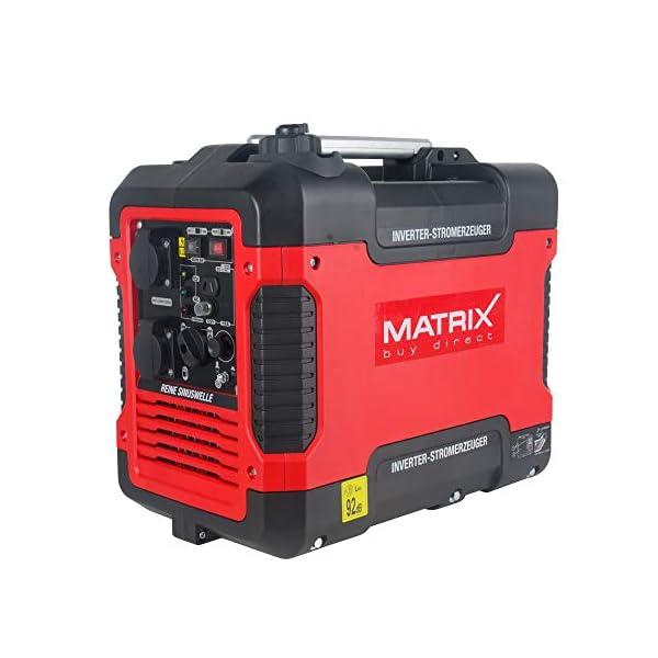 41LPYQZF8oL Matrix Inverter Stromgenerator mit USB, Benzin leise, 4 takt, 2000 Watt, für Camping und Garage