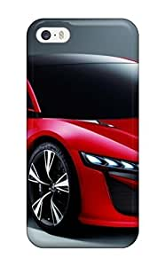 Iphone 5/5s Case Cover Two Door Red Car On Gray Case - Eco-friendly Packaging