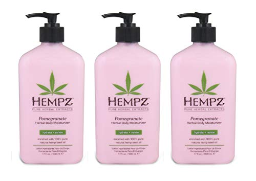 Hempz Pomegranate Herbal Body Moisturizer 17 oz (3 pack)