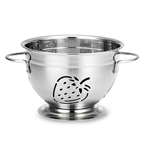 (Supreme Housewares Stainless Steel Colander, Small, Strawberry)