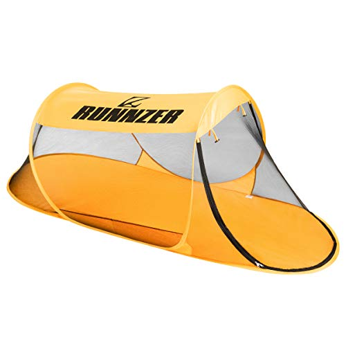 RUNNZER Pop-Up Mosquito Tent, Portable Single Mosquito Net Tent Free Standing Auto- Expanding for Camping Outdoor Travling Backyard