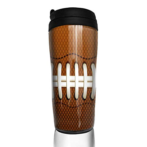 Custom Reusable Coffee Cup Football Family Tumbler Vacuum-Insulated Travel Mug Hot Or Cold,12 Oz.with Lids -