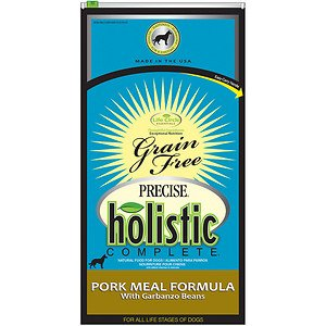 Precise 726523 5-Pack Holistic Complete Grain Free Pork/Garbanzo Food Bag For Pets, 6-Pound