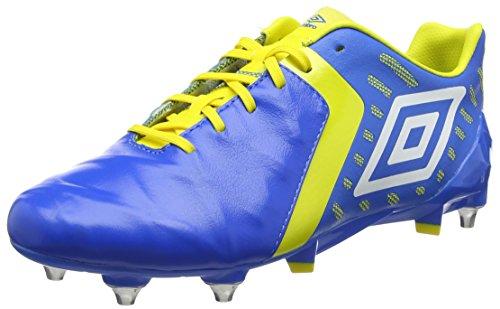 Umbro Medusæ II Pro SG, Scarpe da Calcio Uomo Blu (Electric Blue / White / Blazing Yellow)