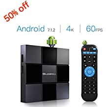 Android Box, Globmall 2018 Model X3 Android TV Box, Android 7.1 TV Box 2GB RAM 8GB ROM Quad Core A53 Processor 64 Bits Support 4K 60fps