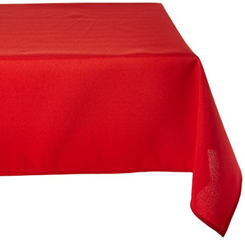 LinenTablecloth 60 x 126-Inch Rectangular Polyester Tablecloth White - 70 x 120 in. sides 100% Polyester (Dacron) Fold Over hemmed edges - tablecloths, kitchen-dining-room-table-linens, kitchen-dining-room - 41LPabdozCL -