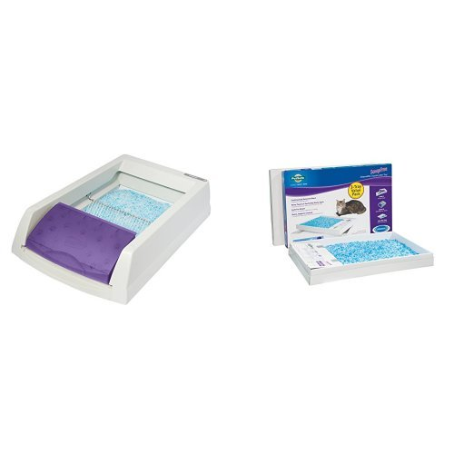 ScoopFree Self Cleaning Litter Box and ScoopFree Litter Tray Refills with Premium Blue Crystals - 3-Pack Bundle by PetSafe