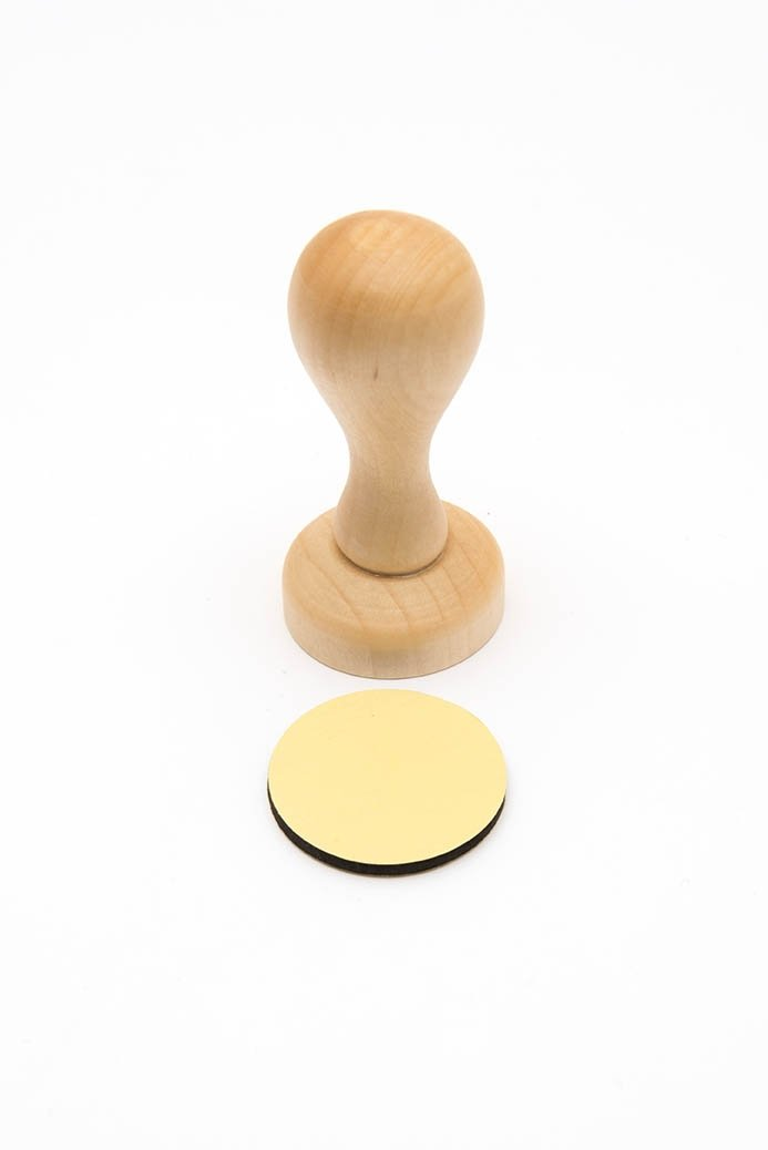 Rico Design Timbro manico rotondo, legno, natura 7038.36.31