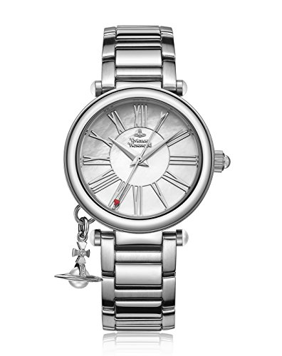 Vivienne Westwood Women's VV006PSLSL Orb Mother of Pearl Silver Analog Display Swiss Quartz ()