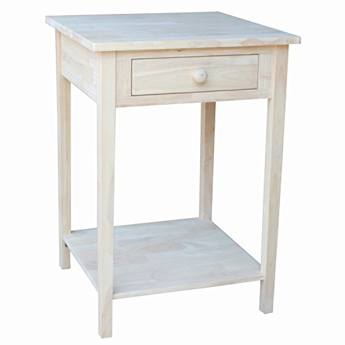 International Concepts OT-91 Hampton Bedside Table (Bedroom Unfinished Nightstand)