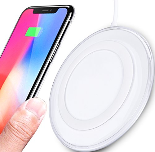 7TECH Qi Wireless Charger Wireless Charging Pad Fast Charge for iPhone 8/ iphone 8 plus / iphone x / Galaxy S8/ S8 Plus/ S7 / S6 / Note - Center Friendly Mall