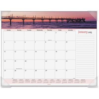 (AT-A-GLANCE 89803 Seascape Panoramic Desk Pad, 22 x 17,)