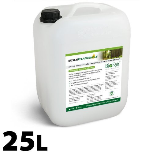 BioFair® Saw-Chain Oil, 100% Made Of Fully Refined Pure Rape Oil - 25 Liter Büsch Pflanzenöle