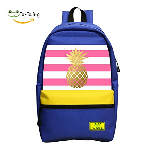 2018 Latest Popular Fashion Pineapple Cutomized 3D Printing Leisure School Bags - Sunglasses Blue Juice