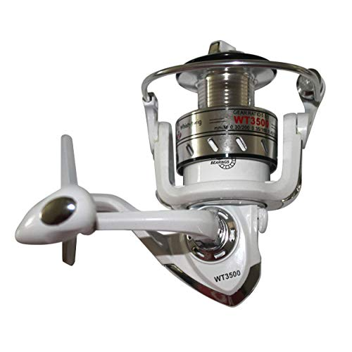 Whistytwig Fishing Spinning Reel with 15 Lb Front Drag - Lightweight Reels, 8+1 Bearings, 5.5 Gear Ratio - Smooth, Powerful Spin Handle with Stainless Steel Shaft - Supplies for Freshwater, Saltwater