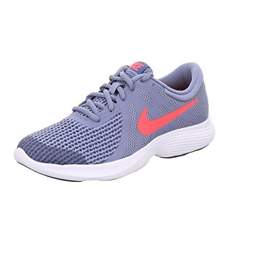 Nike Boys' Revolution 4 (Gs) Fitness Shoes Multicolour (Ashen Slate/Flash Crimson-diffused Blue 400)