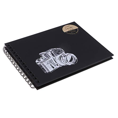 B Blesiya 20 Hojas Kraft Paper Sketch Book Display Álbum De Recortes Graduation Photo Album - Negro, 235x180 mm