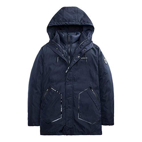 Cappuccio Staccabile Invernale Comodo Giacca Blu Con Trapuntata Cotone Battercake Nera Blau Da 2 Uomo Reversibile 1 In vzAwnqP5xf