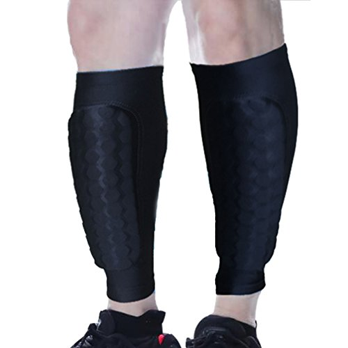 Luwint Honeycomb Compression Calf Sleeve - Shin Splint Leg Sleeves Support for Calf Pain Relief Running Cycling Football Travel - Calf Guards for Men Women Runners, 1 Pair (Large, Black)