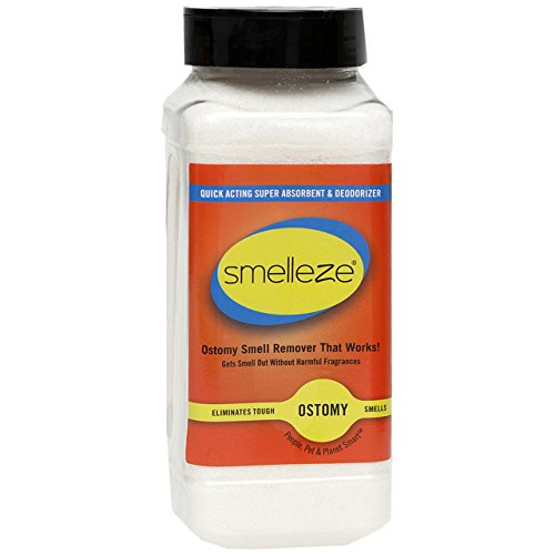 SMELLEZE Ostomy Bag Smell Removal Deodorizer: 2 lb. Granules Stop Colostomy Stench ()