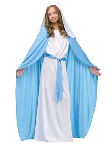 Fun World Costumes Baby Girl's Child Mary Costume, Blue/White, Large (Virgin Mary Costumes)