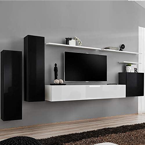 Kasalinea SOLENDRO 2 - Mueble Colgante para televisor de Techo, Color Blanco y Negro: Amazon.es: Hogar