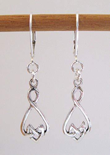 Sterling Silver Celtic Drop Earrings - 925 Lever-Backs ()