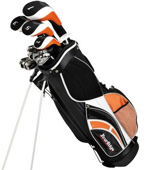 Tour Edge Men's HP-11 Complete Set (Left Hand, Graphite/Steel, Regular, Complete Set, Black)