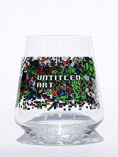 Stemless 8-bit design Beer Glass ()