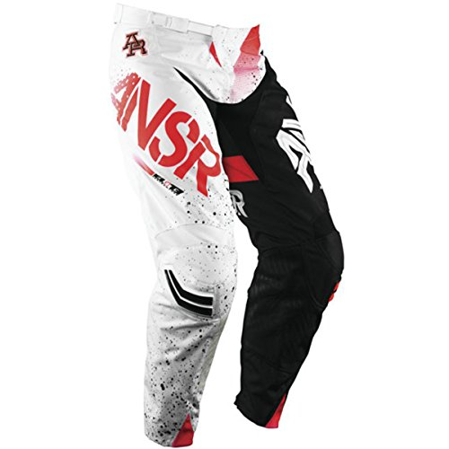 (Answer Racing A17.5 Elite Limited Edition Halo Men's Off-Road Motorcycle Pants - Red/White / Size 32)