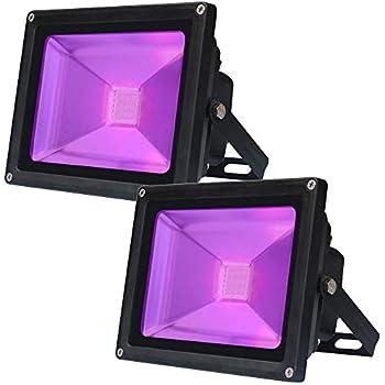 Amazon.com: UV LED Black Light,GLW 10W Ultraviolet ...