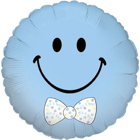 Smiley Baby Boy Micro Balloon (1 ct) Foil (1 per package)