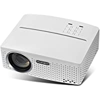 VisualGreat GP80 Projector, Portable Size 2017 Top Game Video Entertainment, Led 1800 Lumens for Home Theater 1080P Ready via Double USB To Achieve Your Movie at Your Family Party(White)