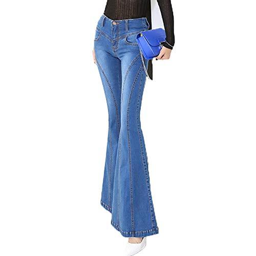 Jeans Casuali Moda Donna Da Svasati Alla Blue Lusinghiosi 88gzrv