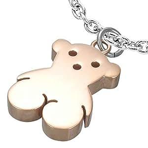 De acero inoxidable de 2 tonos Colgante Tous -Bear con la cadena Belcher 50cm