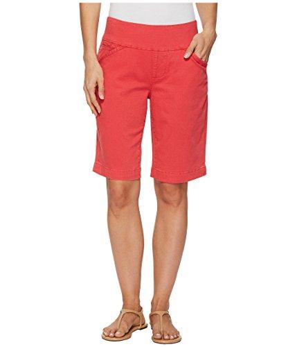 Bermuda Slim Shorts (Jag Jeans Women's Ainsley Pull On Bermuda Short, Hibiscus, 6)
