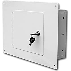 Homak Between the Studs High Security Steel Wall Safe, White, WS00017001