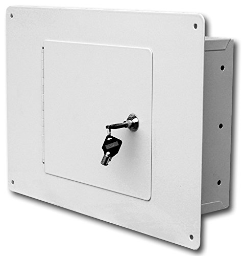 - First Watch - Homak Between the Studs High Security Steel Wall Safe, White, WS00017001