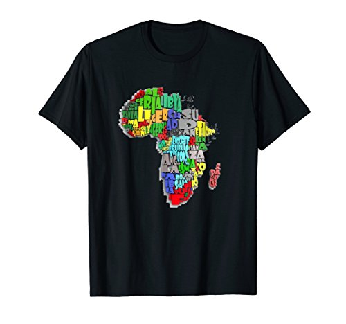 Africa map tshirt map of Africa with country names t-shirt (T-shirt Map Africa)