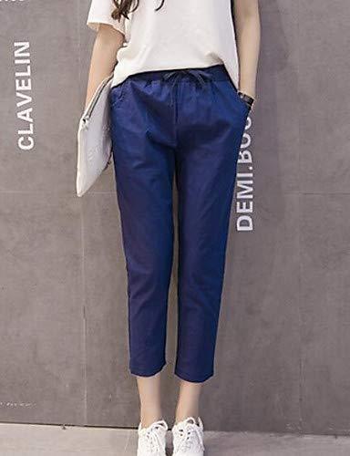 Pantaloni YFLTZ Black chino tinta da in donna unita cotone PwPazFq