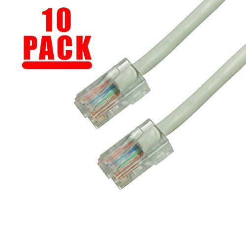 GRANDMAX 10-Pack CAT5e / 6FT/ Gray / RJ45 Ethernet Network Patch Cable, 350MHz, UTP