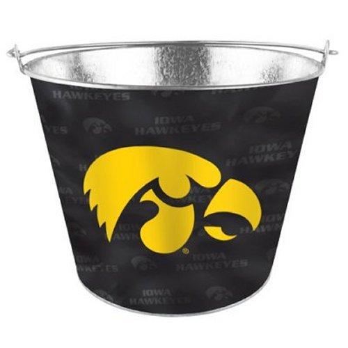 NCAA Iowa Metal Beer Bucket with Tonal Wrap Graphics | Iowa Hawkeyes Ice Bucket