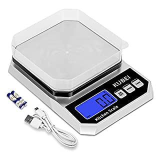 KUBEI Digital Kitchen Scale Multifunctional Food Scale 5Kg x 0.1g with LCD Screen Display