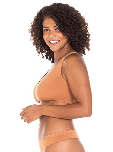 Boody Body EcoWear Women's Shaper Bra - Seamless Cooling Bra Made from Natural Organic Bamboo Viscose - Soft Breathable Eco Fashion for Sensitive Skin - Nude 2, Medium